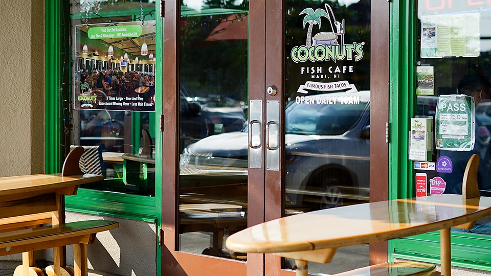 Best Maui Local Food Coconuts Fish Cafe