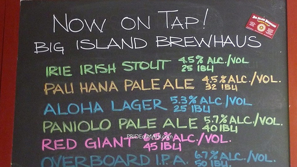 Big Island Brewhaus Paniolo Pale Ale Hawaii