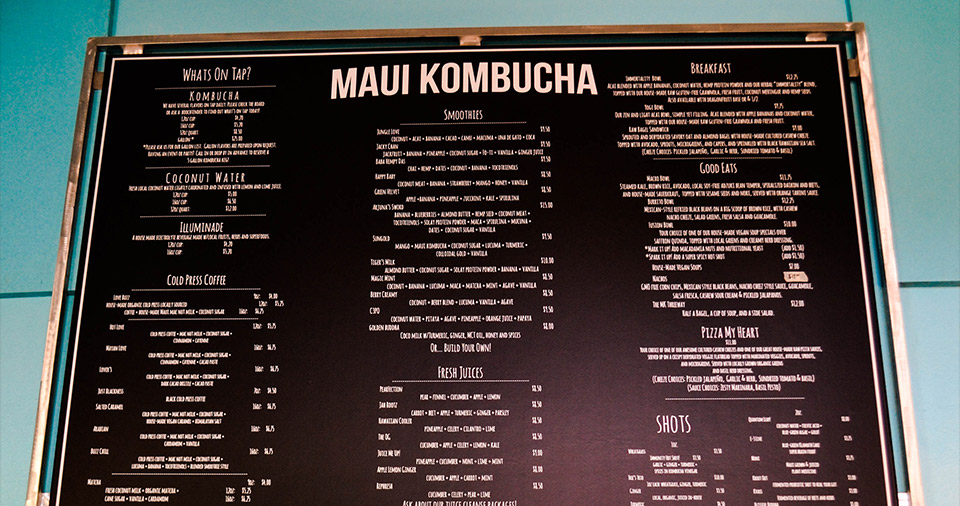 Maui Best All Organic Kombucha