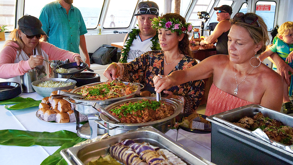 Best Maui Sunset Luau Dinner Food