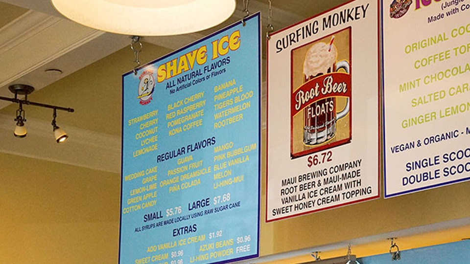 Best Maui Surfing Monkey Hawaiian Shave Ice
