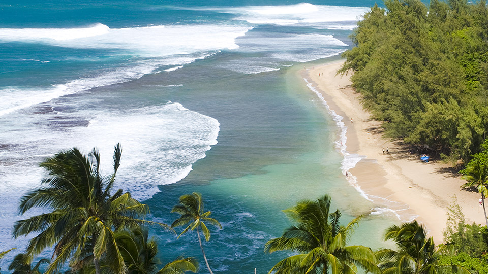 Aerial Photo of Ke'e Beach