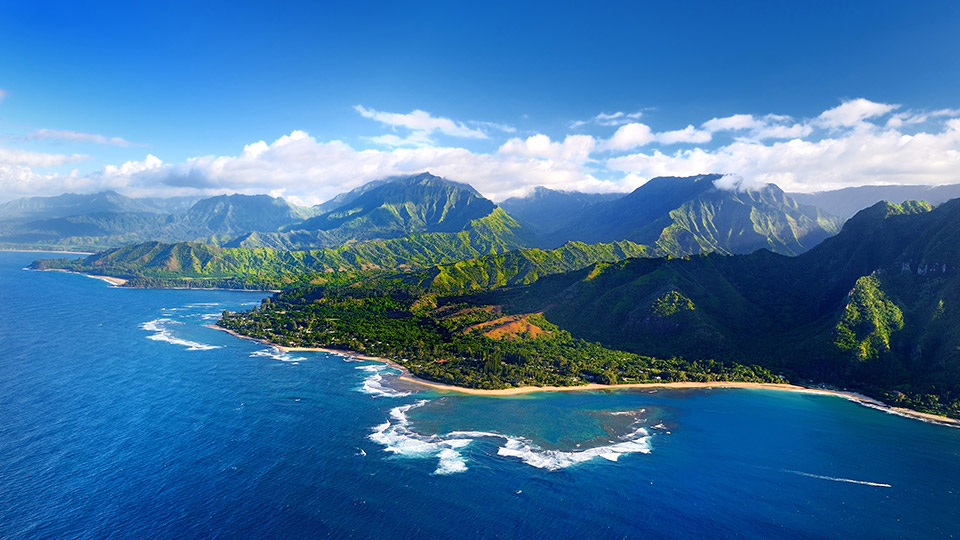 Aerial Photo of Na Pali Coast