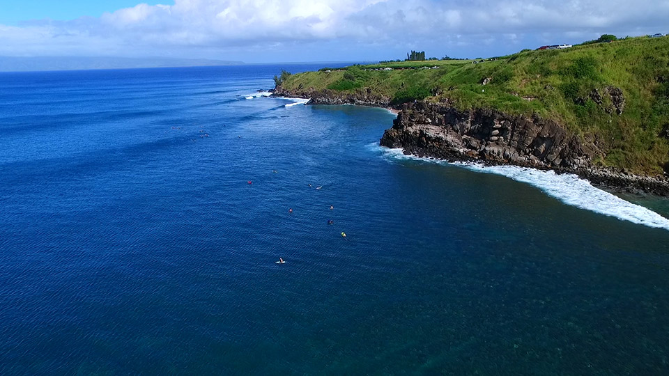 Aerial Shot of Honolua Bay