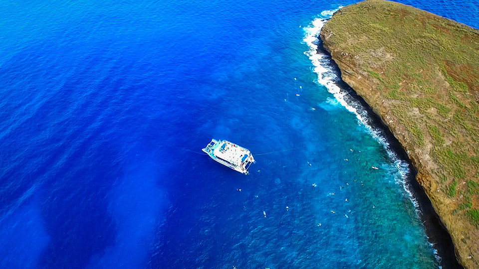 Molokini Crater and Pride of Maui boat