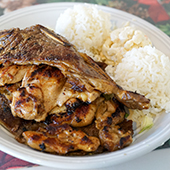 Ono Kau Kau Mixed Plate Top Maui Local Food