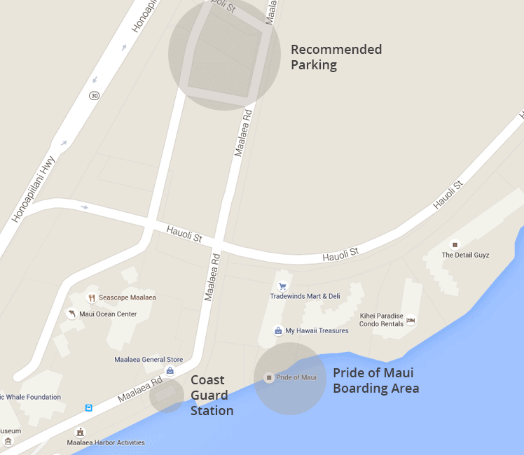 Maalaea Harbor Maps and Directions | Pride of Maui