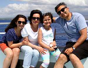 Happy family on the Pride of Maui boat.