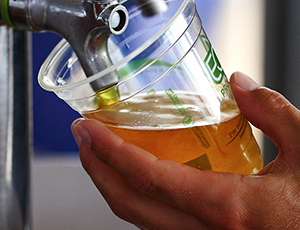 Serving beer from a tap